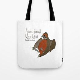 Rufous-fronted Wood Quail Tote Bag