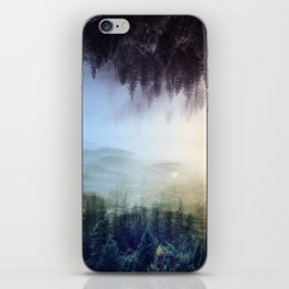 flipped forest iPhone Skin