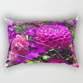 Pink flower bouquet #1 #decor #art #society6 Rectangular Pillow
