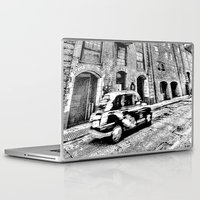 dark side Laptop & iPad Skins featuring Dark side London Art by David Pyatt