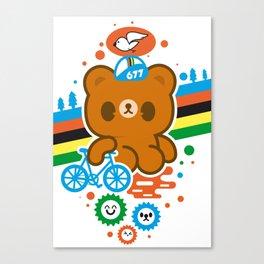 CycleBear - champignon du monde Canvas Print
