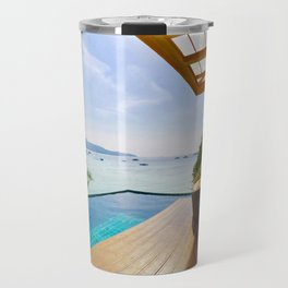 Infinity pool over Phi Phi bay Travel Mug