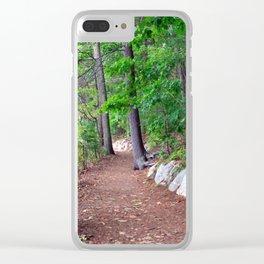 Walden Pond Trail 2 Clear iPhone Case