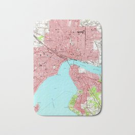 Vintage Map of Jacksonville Florida (1950) Bath Mat