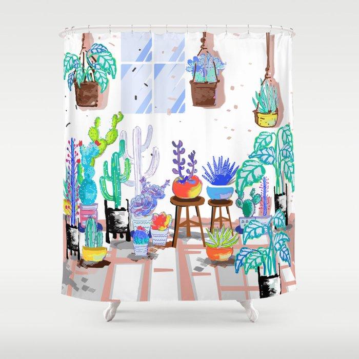 My Little Garden - illustration 2 Shower Curtain