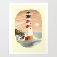 whale Art Prints featuring Whale by Seaside Spirit