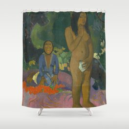 Paul Gauguin Parau na te Varua ino (Words of the Devil) 1892 Painting Shower Curtain