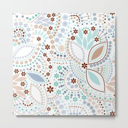 Colorful pattern light pastel colors with beads Metal Print