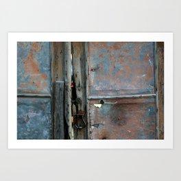 Rusty metal gate Art Print