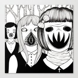 boarding school girls Canvas Print