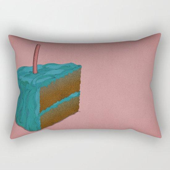 Happy Birthday! (blue) Rectangular Pillow