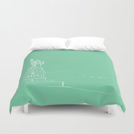 New York by Friztin Duvet Cover