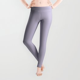 PPG Glidden Trending Colors of 2019 Wild Lilac Pastel Purple PPG1175-4 Solid Color Leggings