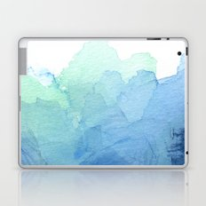 Abstract Watercolor Texture Blue Green Sea Sky Colors Laptop & iPad Skin