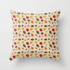 When The Leaves Fall Throw Pillow
