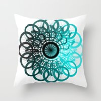 cycle Throw Pillows featuring Cycle by Advocate Designs
