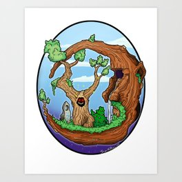 Moon Tree Art Print