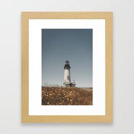 Oregon Lighthouse Framed Art Print