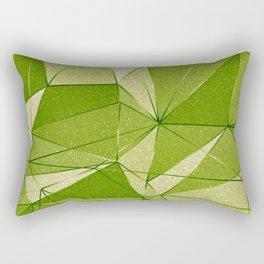 Green 1950s Retro Vintage Geometric Abstract Leaves Design Rectangular Pillow