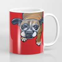 lucy Mugs featuring Lucy by Pawblo Picasso