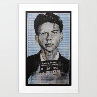 frank sinatra Art Prints featuring Frank Sinatra by Bianca Burrows