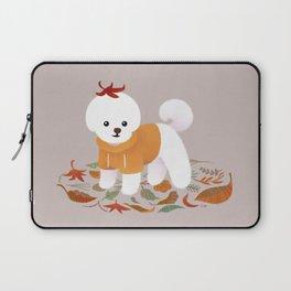 Autumnal Bichon Laptop Sleeve