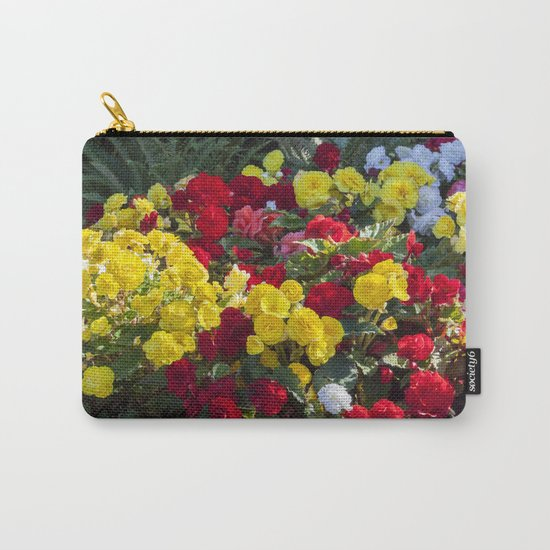 Begonias in Flower Carry-All Pouch