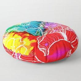 Aloha Floral Floor Pillow
