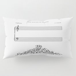 The Sound of Silence (Mono) Pillow Sham