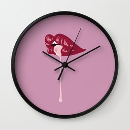 Lips Wall Clock
