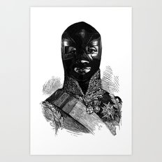Wrestling mask 1 Art Print
