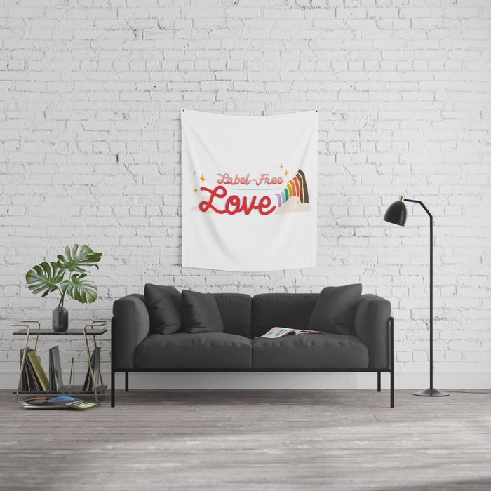 Label Free Love  inspired by The L Word Wall Tapestry