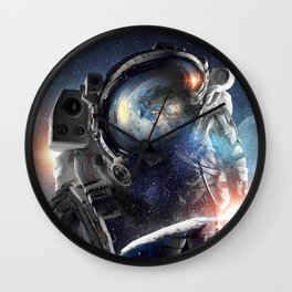galaxy astronaut Action helmet Wall Clock