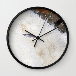 silver salmon  Wall Clock