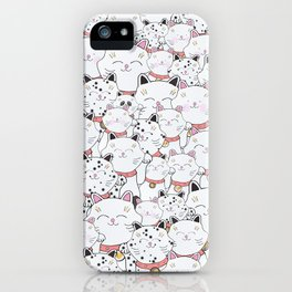 FIND THE PANDA - LUCKY CAT iPhone Case