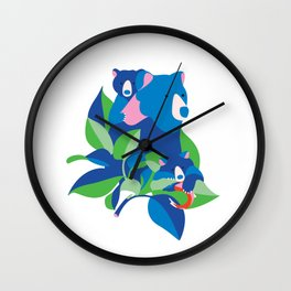 Grizzly spring Wall Clock