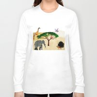 safari Long Sleeve T-shirts featuring Safari by Design4u Studio