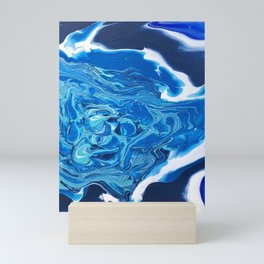 Groovy Blue Mini Art Print