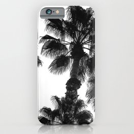 Palm Tree Art Print {3 of 3} | B&W Topical Beach Plant Nature Vacation Sun Vibes Artwork iPhone Case