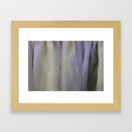 Textured fabric for background and texture Framed Art Print