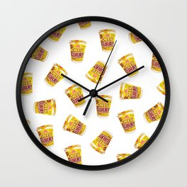 Cheese Curry Cup Noodles Pattern Wall Clock