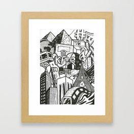 Black and White Graffiti Style Wall Art Framed Art Print
