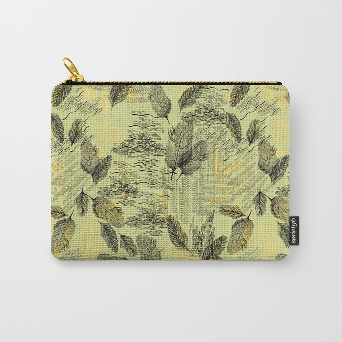 Seamless Blossom Pattern Carry-All Pouch