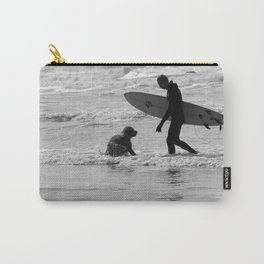 One Surfer And His Dog Carry-All Pouch
