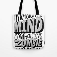 Zombie Parasites Tote Bag