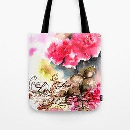 Roses Card Tote Bag