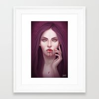 there will be blood Framed Art Prints featuring blood by melazerg