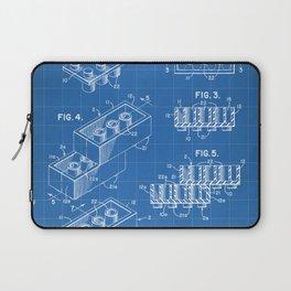 Legos Patent - Legos Brick Art - Blueprint Laptop Sleeve
