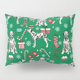 Dalmatian dog breed christmas holiday presents candy canes dalmatians dogs Pillow Sham