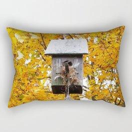 Birdhouse in Fall Rectangular Pillow